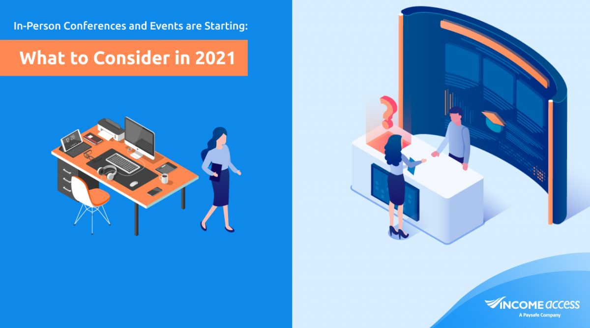 Transition from virtual to in-person events and conferences
