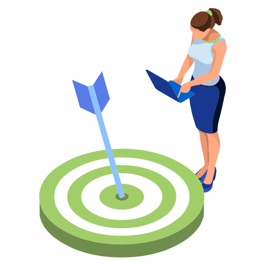 Marketing professional developping targeted strategy for client